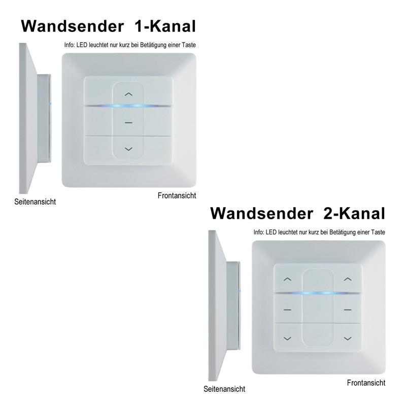 Wandsender radio émetteur Contrôle télécommande pour store store moteur d/'auvent moteur