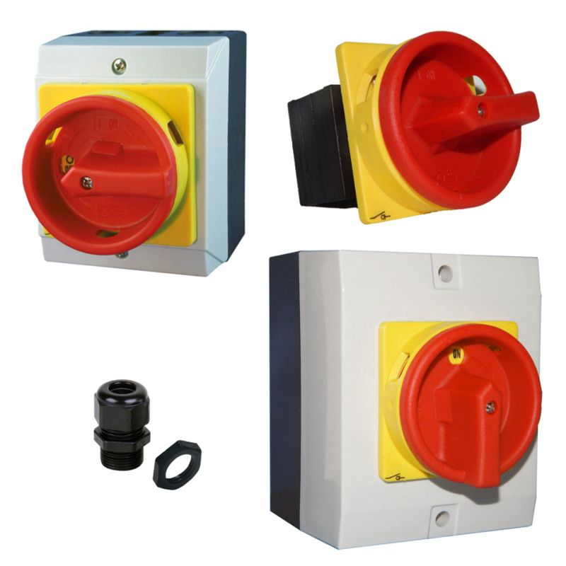 UP für Rolltor Tor Hauptschalter 4-polig Not-Aus Schalter Lasttrennschalter AP